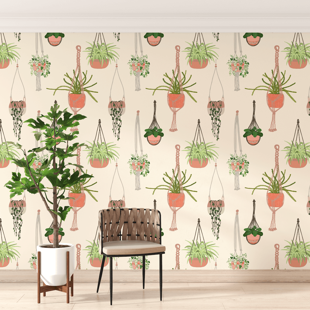 Hanging Garden Wallpaper repeat pattern - Rumu creative