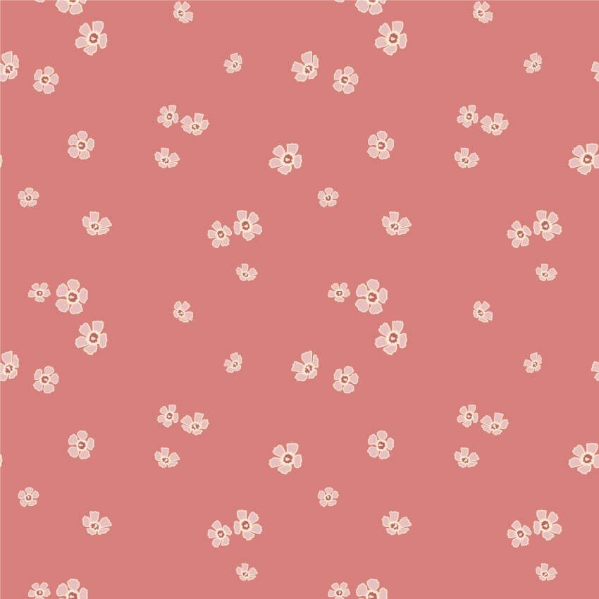 Small pink flower repeat pattern